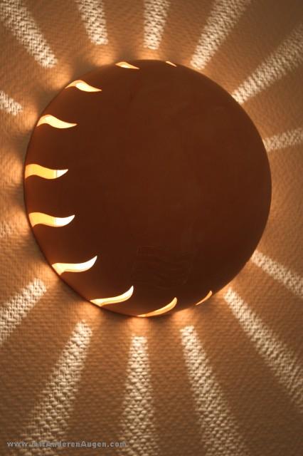 Lampen Aus Gegossenem Ton Solar Fire
