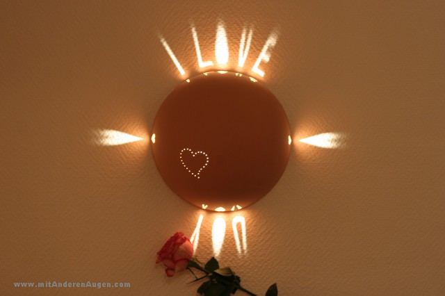 Lampen aus gegossenem ton i love you for Lampen 4 you